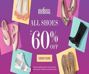 شراء أحذية ميليسا البلاستيكية المسطحة والصنادل عبر الإنترنت