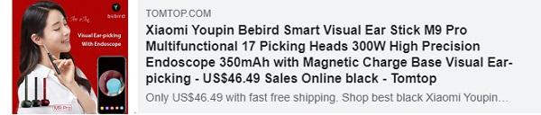 41٪ OFF لـ Xiaomi Youpin Bebird Smart Visual Ear Stick M9 Pro متعدد الوظائف 17 رأس اختيار