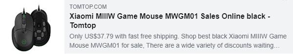 53٪ خصم لـ Xiaomi MIIIW Game Mouse MWGM01