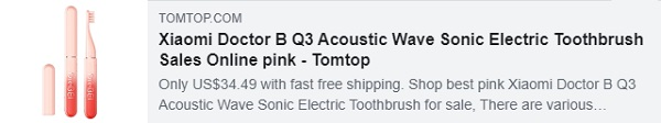 53٪ OFF لـ Xiaomi Doctor B Q3 Acoustic Wave Sonic Electric Toothbrush