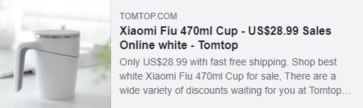 كوبون Xiaomi Fiu 470ml كوب: HYXFCUP السعر: 19.39 دولار