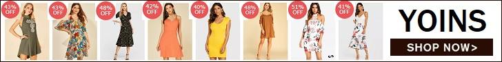 تسوقي فساتين الموضة عالية الجودة على موقع Yoins.com